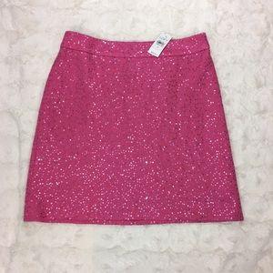 Ann Taylor LOFT Pink Sequin Skirt NWT